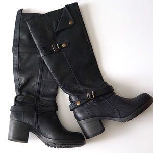 Mia Sabato Black Riding Boot 7M